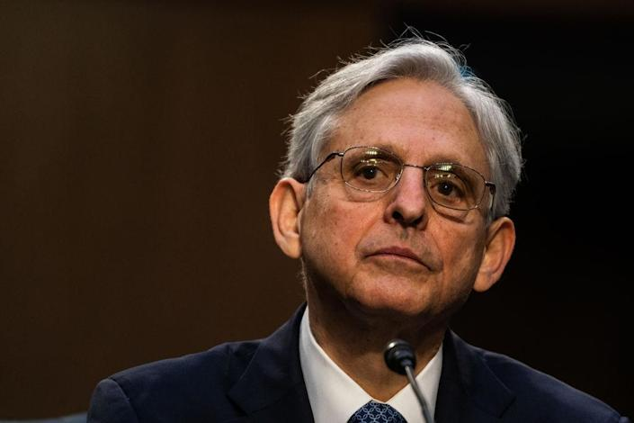 U.S. Attorney General nominee Merrick Garland speaks during his confirmation hearing in the Senate Judiciary Committee on Capitol Hill on February 22, 2021 in Washington, DC.