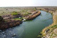 The Rio Grande, which separates the US town of Brownsville in Texas from Matamoros in Mexico