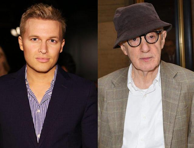 Ronan Farrow and Woody Allen won't be spending Father's Day together. (Photo: Getty Images)