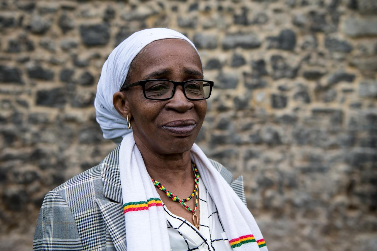 LONDON, ENGLAND - MAY 01: Paulette Wilson, 62, (moved to Britain in 1968 from Jamaica) poses for a photograph on College Green after members of the Windrush generation and their families attend a meeting with MPs at the House of Commons on May 1, 2018 in London, England. Residents from the Caribbean and African Commonwealth countries first arrived on the HMT Empire Windrush from June 1948 until the 1970s. Recently many from the Windrush Generation have been asked to leave the UK or denied healthcare as they have no official documentation. The British Home Secretary, Amber Rudd, resigned over the matter when it transpired she had 'inadvertently misled' parliament on the Home Office's policy on enforced returns.  (Photo by Chris J Ratcliffe/Getty Images)