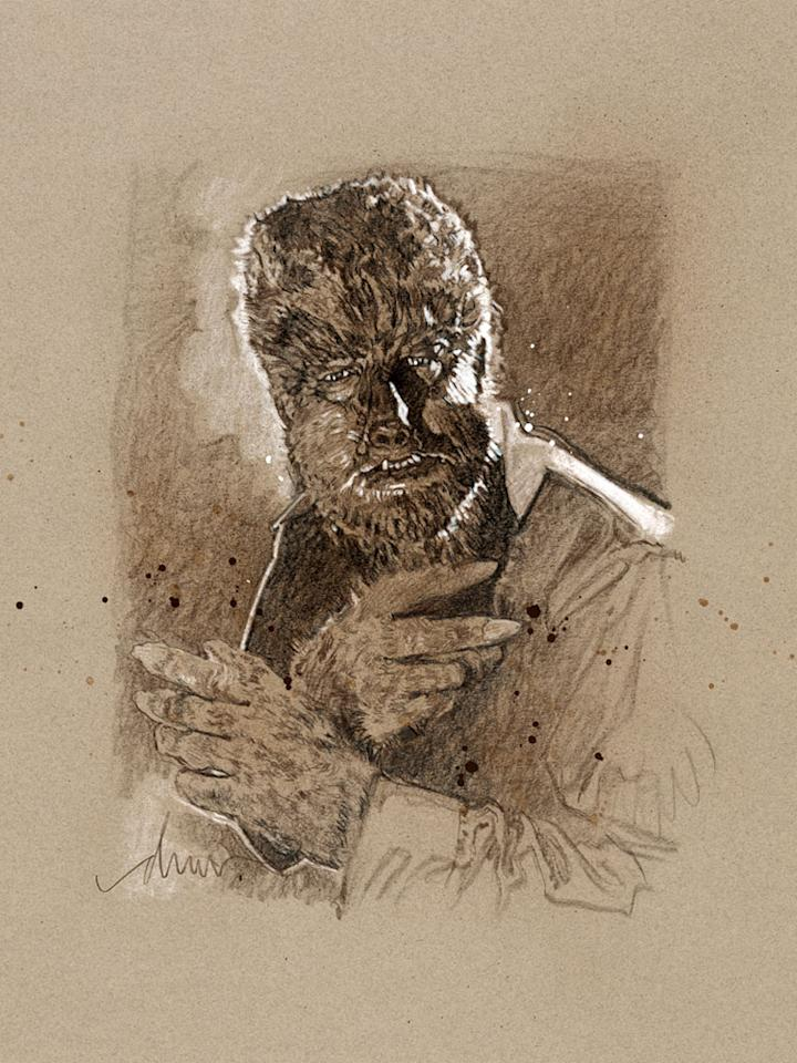 """The Wolf Man"" by Drew Struzan"