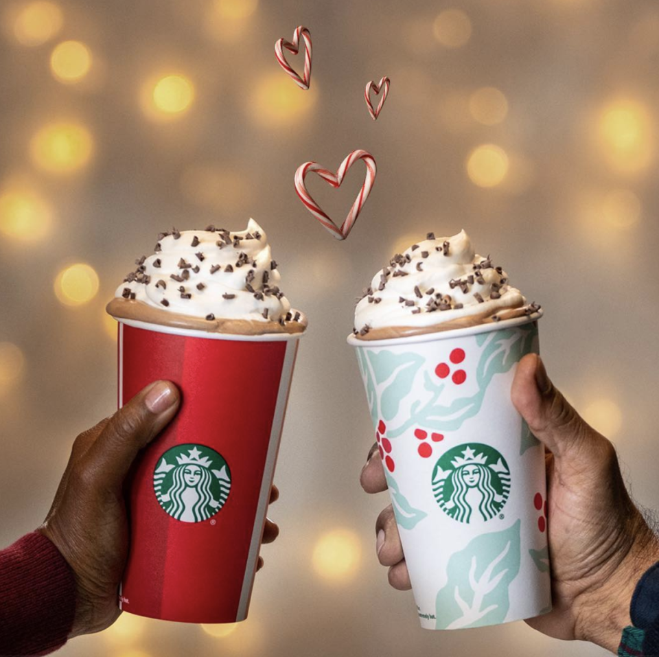 <p>We all know that during the holidays, Starbucks ramps up its menu with at least five different winter-themed lattes. Honestly, we never know which one to pick, besides this classic. The mint and cocoa flavor combination definitely does not disappoint.</p>
