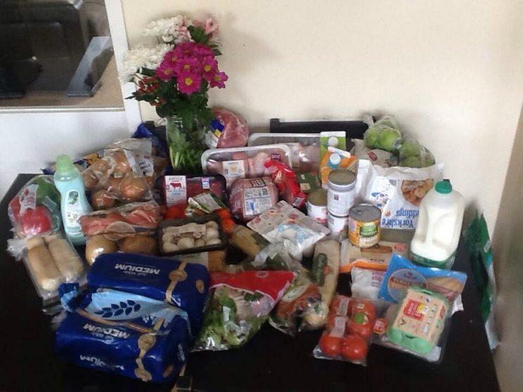 Stick to the plan: Danielle Ross' weekly shop for less than £40