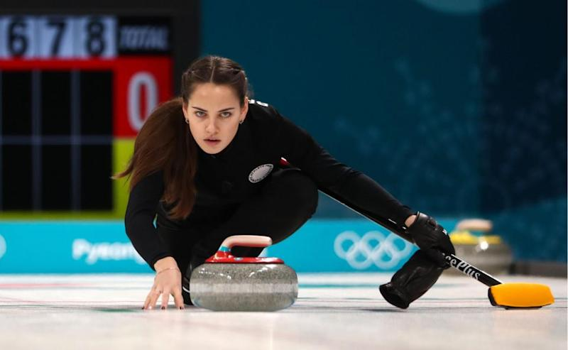 Anastasia competes with her husband. Photo: Getty