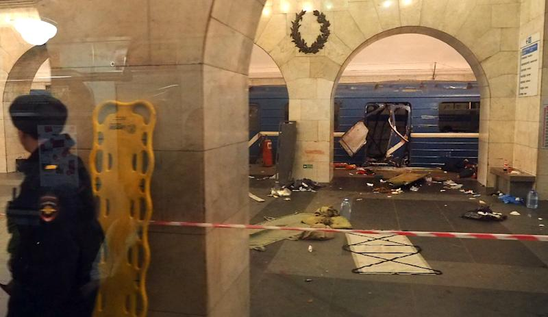 The Saint Petersburg blast, which killed 15, occurred as the metro train was between stations