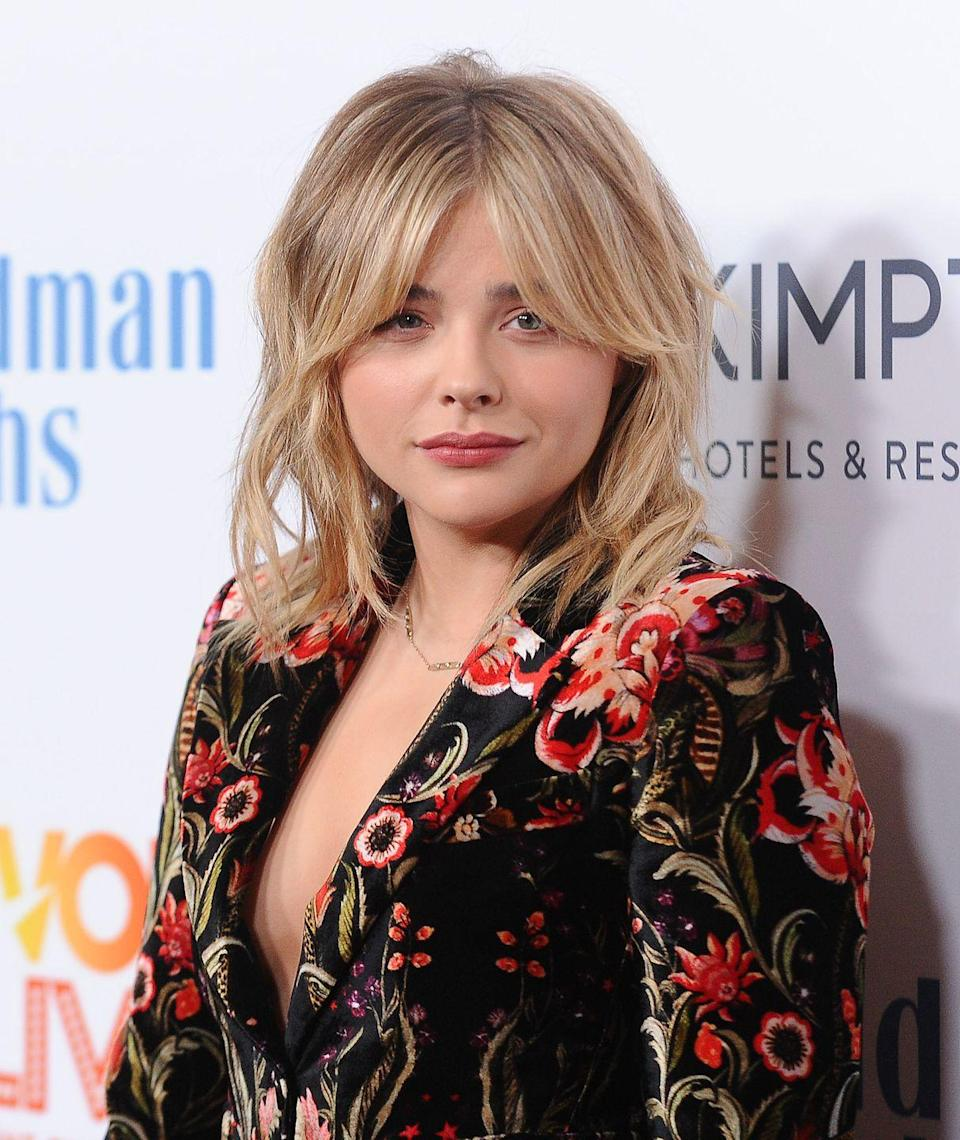 <p>Chloe usually opts to have her hair swept off her face - either to the side or tucked behind her ears. This look adds dimension and fits her more grown-up chop.</p>