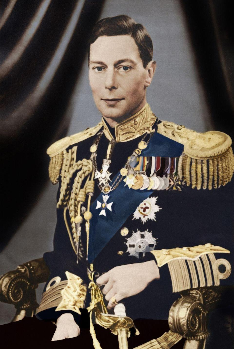 "<p>It's the end of an era when King George VI <a href=""https://www.biography.com/people/george-vi-9308937"" rel=""nofollow noopener"" target=""_blank"" data-ylk=""slk:dies on February 6"" class=""link rapid-noclick-resp"">dies on February 6</a>. His daughter, Elizabeth, ascends the throne. </p><p><em>RELATED: <a href=""https://www.goodhousekeeping.com/life/entertainment/a33742/12-facts-about-buckingham-palace/"" rel=""nofollow noopener"" target=""_blank"" data-ylk=""slk:12 facts about Buckingham Palace"" class=""link rapid-noclick-resp"">12 facts about Buckingham Palace </a></em></p>"