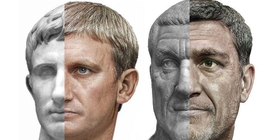 The Real Faces of 54 Roman Emperors