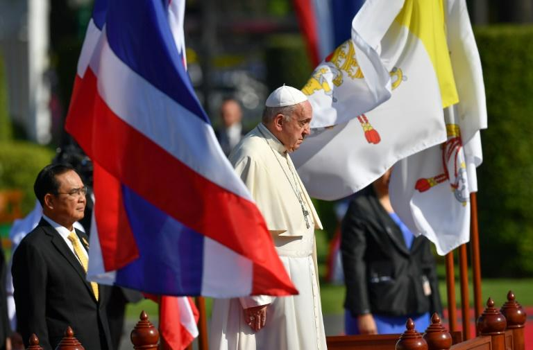 Pope Francis is on his first visit to Buddhist-majority Thailand