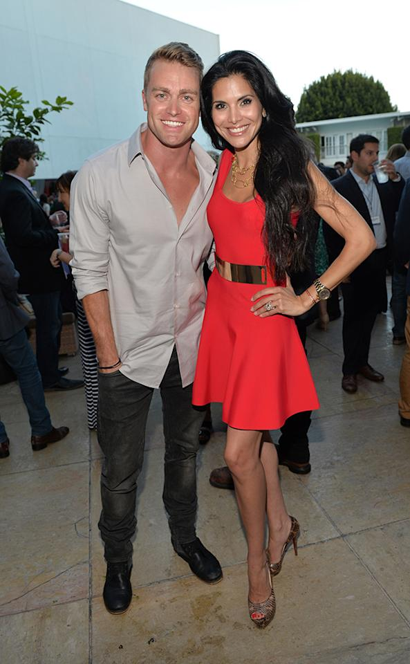 "Jonathon Buckley and Joyce Giraud (""Siberia"") at the NBC Cocktail Reception during the 2013 Summer Television Critics Association tour."