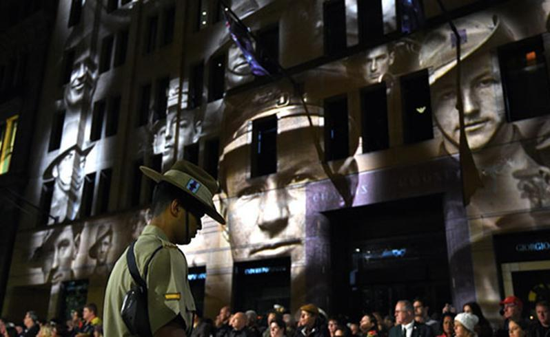 The Anzac Day dawn service in Sydney's Martin Place. Source: AAP.