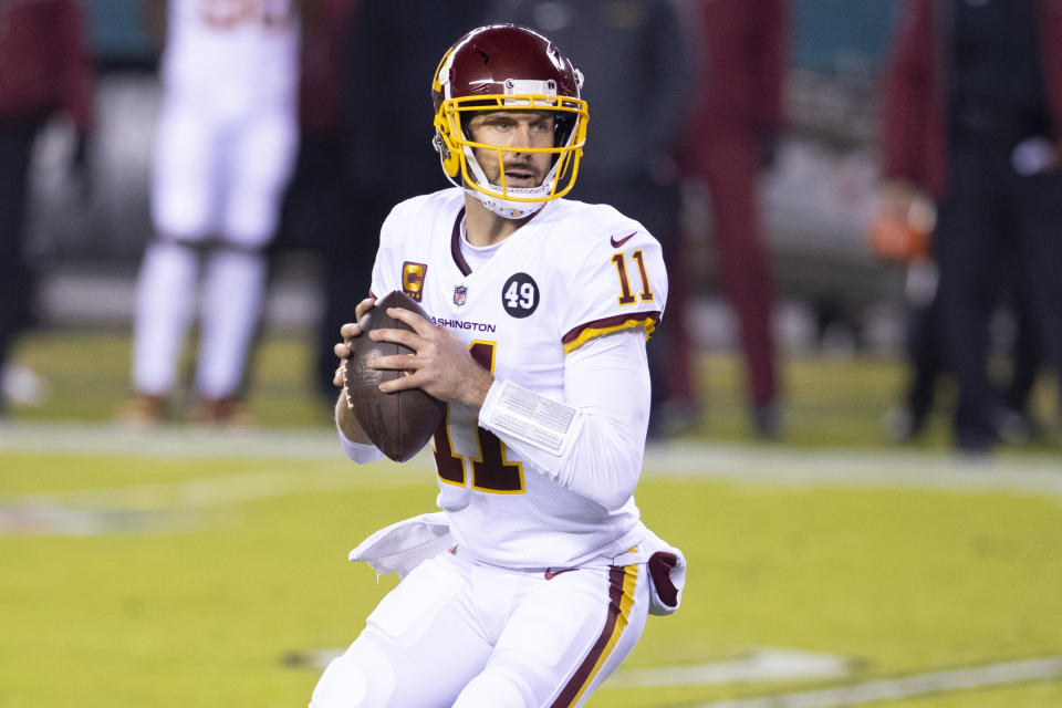 Washington and QB Alex Smith are likely to part ways in the coming days. (Photo by Mitchell Leff/Getty Images)