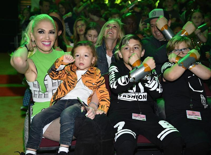Gwen Stefani with sons Apollo, Kingston and Zuma
