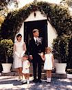 <p>The President and First Lady—dressed in a simple silk dress and lace hair kerchief—pose with their children on Easter Sunday in Miami, Florida. <br></p>