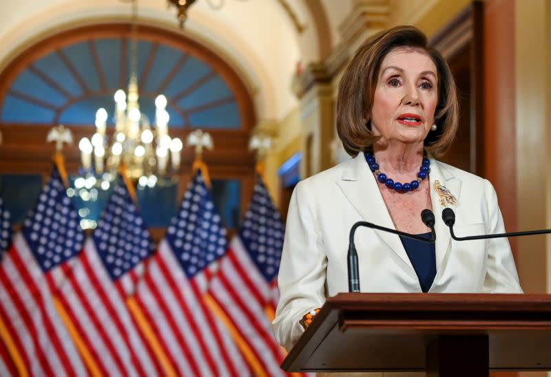 Pelosi pursues articles of impeachment against Trump, says democracy at stake