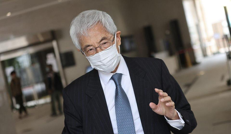 Martin Lee arrives at West Kowloon Court on Thursday. Photo: K.Y. Cheng