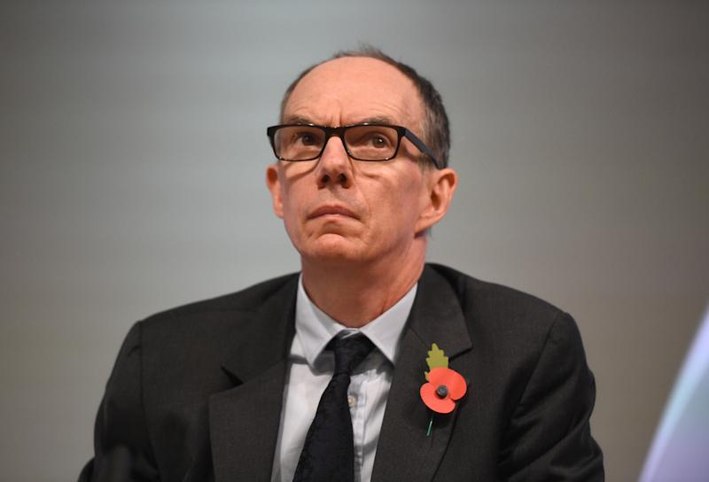 Bank of England Deputy Governor for Markets and Banking, Dave Ramsden attends a Bank of England news conference, in the City of London, Britain November 1, 2018. Kirsty O'Connor/Pool via REUTERS