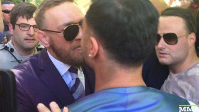 McGregor and Malignaggi face off in Vegas. Pic: Getty