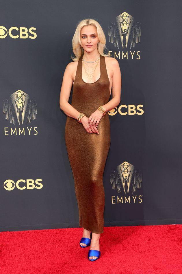 Madeline Brewer attends the 73rd Primetime Emmy Awards at L.A. Live on Sunday in Los Angeles. (Photo: Rich Fury/Getty Images)