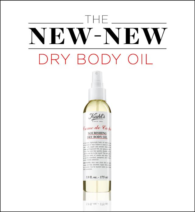 Finally! A body oil that won't ruin your clothes with grease stains. (Photo: Kiehl's; Art: Quinn Lemmers for Yahoo Lifestyle)