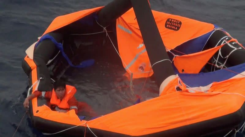 Third crewman from cattle ship rescued on lifeboat off Japan