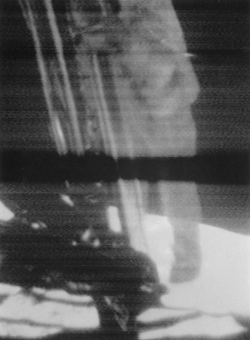 A screenshot from video footage of Commander Neil Armstrong climbing down the ladder of the Lunar Module (LM) the 'Eagle,' to become the first man to set foot on the Moon on July 20, 1969, during NASA's Apollo 11 lunar landing mission. | Space Frontiers—Getty Images