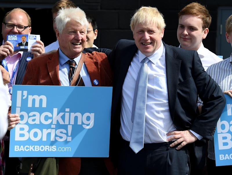 Boris Johnson with his father, Stanley, during the Tory leadership contest, June 2019