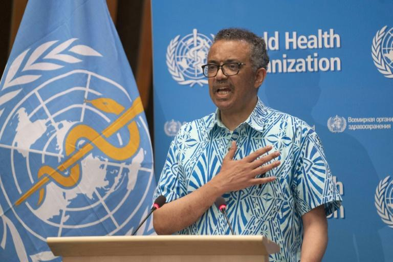 "The WHO's chief Tedros Adhanom Ghebreyesus said that on May 19, 2020 (pictured), there were ""106,000 cases reported to WHO -- the most in a single day since the outbreak began"" (AFP Photo/Christopher Black)"
