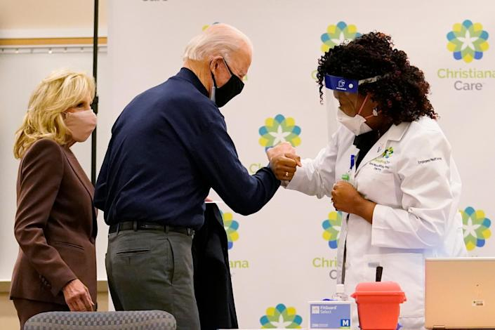 Vaccination is believed to be saving lives in the fight against the coronavirus pandemic, according to the CDC preliminary data (AP)
