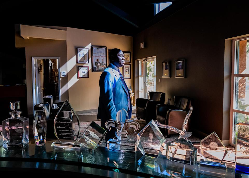 """Crump stands in his office in Tallahassee, Fla., on April 4.<span class=""""copyright"""">Ruddy Roye for TIME</span>"""