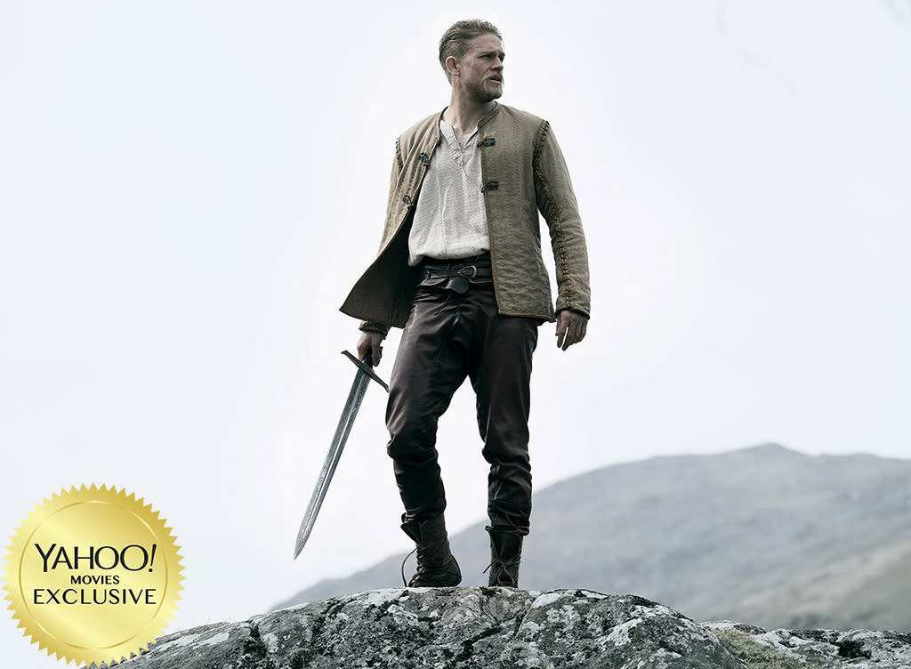 """<p>Travel back to merry old medieval England for the latest retelling of the classic legend, this time with <a rel=""""nofollow"""" href=""""https://www.yahoo.com/movies/tagged/charlie-hunnam"""">Charlie Hunnam</a> as the lad who releases Excalibur from its stony prison. With <a rel=""""nofollow"""" href=""""https://www.yahoo.com/movies/tagged/guy-ritchie"""">Guy Ritchie</a> at the helm, this almost certainly won't be your great-great-great-great-great-great-grandfather's King Arthur. 
