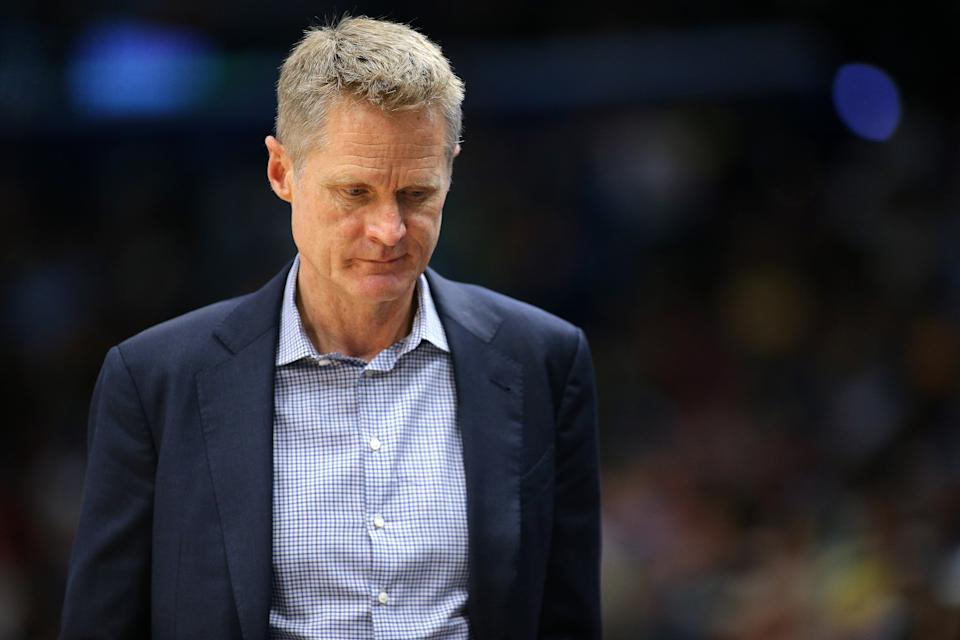 After the NBA condemned Daryl Morey, Steve Kerr is hesitant to speak up on the league's China controversy. (Getty)