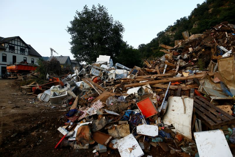 FILE PHOTO: Damages are seen in an area affected by floods caused by heavy rainfalls in Schuld, Germany, July 20, 2021.