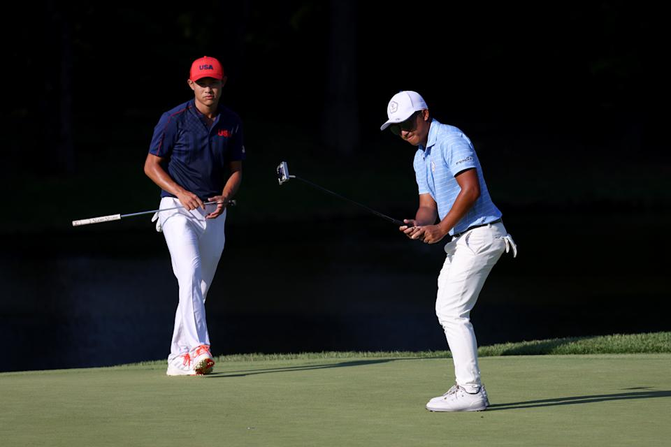 C.T. Pan outlasted Colin Morikawa on the fourth playoff hole. (Photo by Chris Trotman/Getty Images)