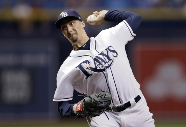 Blake Snell's breakout season could make him the Tampa Bay Rays second Cy Young winner. (AP)