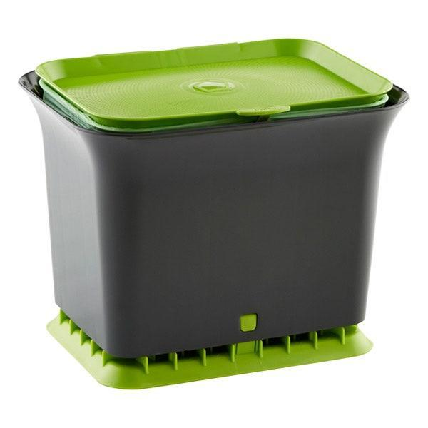 """<a href=""""https://www.architecturaldigest.com/story/high-design-compost-bins?mbid=synd_yahoo_rss"""" rel=""""nofollow noopener"""" target=""""_blank"""" data-ylk=""""slk:Composting"""" class=""""link rapid-noclick-resp"""">Composting</a> food scraps (think coffee grounds, eggshells, banana peels, etc.) is a small way to keep extra waste out of landfills and greenhouse gas out of the atmosphere. This Full Circle compost collector is designed to allow airflow (so it won't stink), is dishwasher safe, and doesn't take up too much counter space. Bonus: Many cities collect food waste and turn it into free compost for gardeners. $30, Container Store. <a href=""""https://www.containerstore.com/s/trash-recycling/full-circle-slate-odor-free-compost-collector/1d?productId=10036592"""" rel=""""nofollow noopener"""" target=""""_blank"""" data-ylk=""""slk:Get it now!"""" class=""""link rapid-noclick-resp"""">Get it now!</a>"""