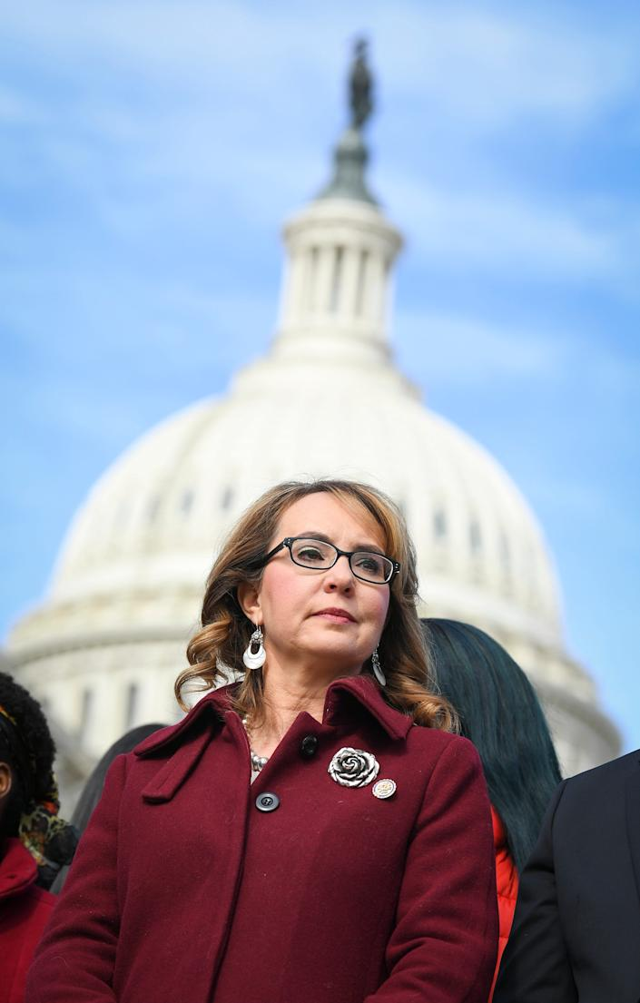 Former congresswoman Gabrielle Giffords, who co-founded a gun violence prevention organization.