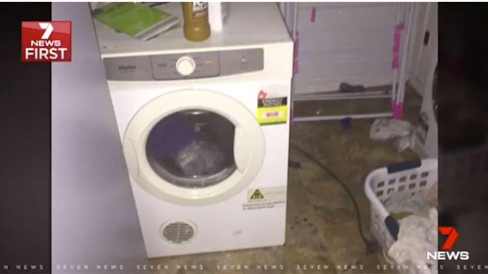 A mother who received a massive electric shock in her laundry was brought back from the dead. Source: 7 News