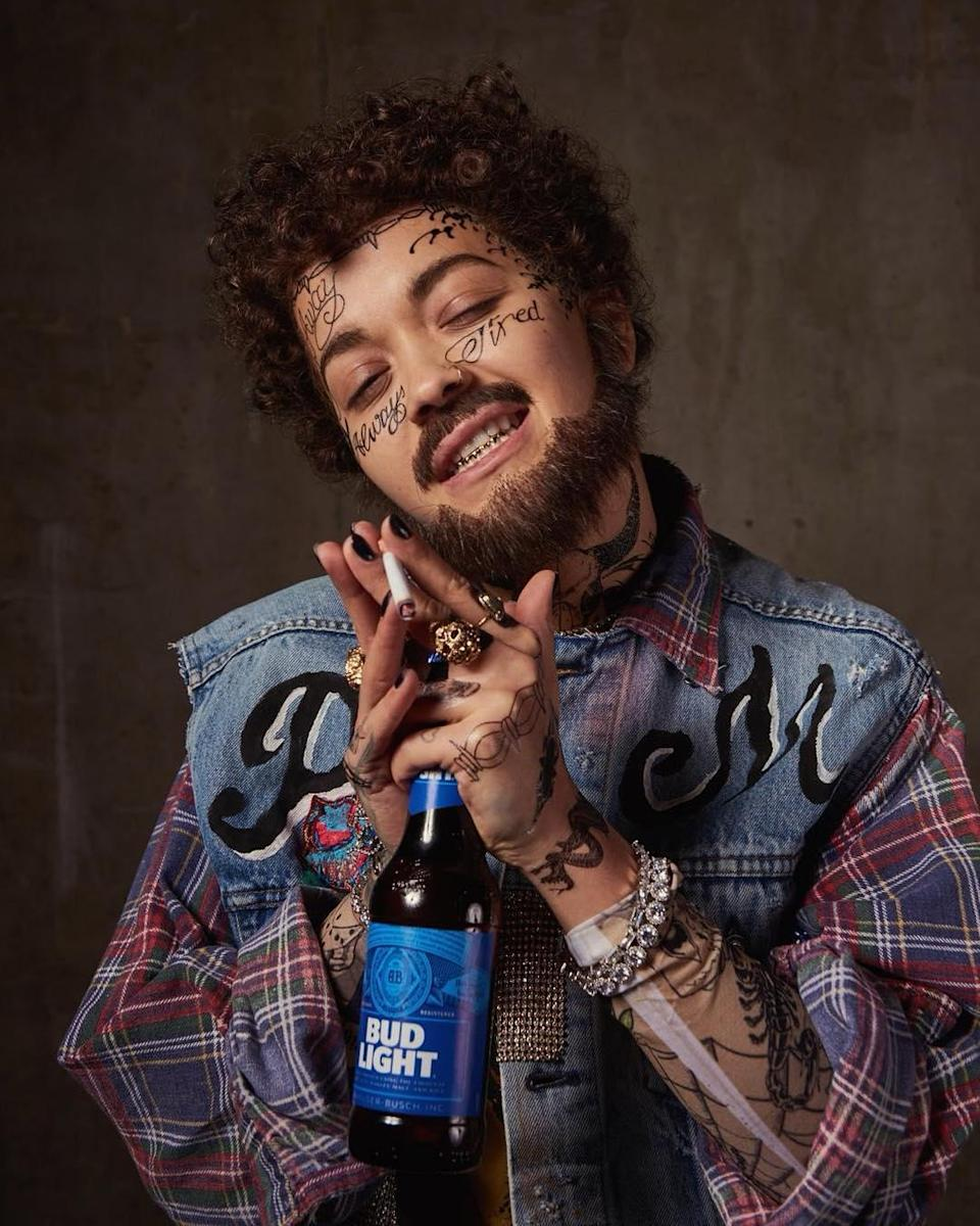 Rita Ora probably won <em>all</em> the costume contests with this Post Malone getup. This is simply a historically fantastic costume.