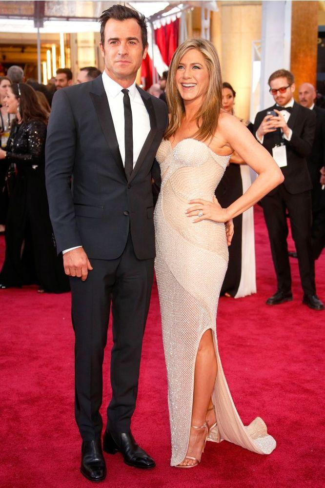 Justin Theroux and Jennifer Aniston in February 2015