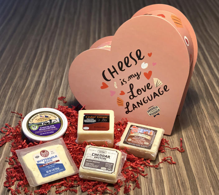 Valentine's Day is so cheesy. (Wisconsin Cheese)