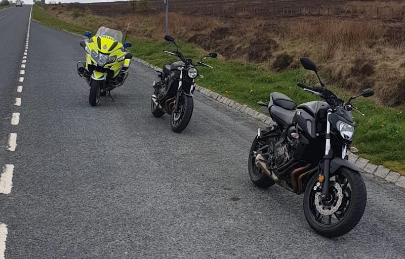 The two bikers were stopped by police near Whitby. (North Yorkshire Police)