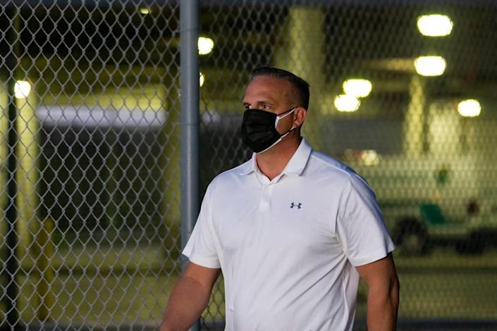 Frank Artiles leaves the Turner Guilford Knight Correctional Center in Miami, Florida on Thursday, March 18, 2021. Artiles posted $5,000 bail after facing charges relating to a 2020 Senate District 37 campaign.