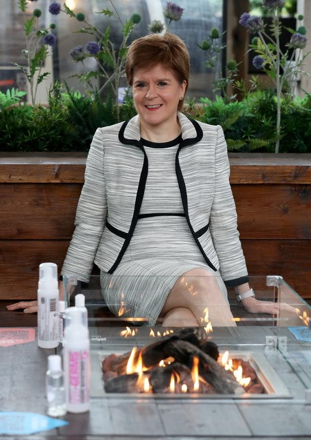 Scotland's First Minister Nicola Sturgeon is due to announce whether the country can move into the next phase of its lockdown easing (Andrew Milligan/PA)