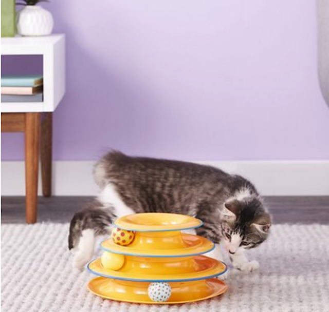 Petstages Tower of Tracks Cat Toy. (Photo: Chewy)