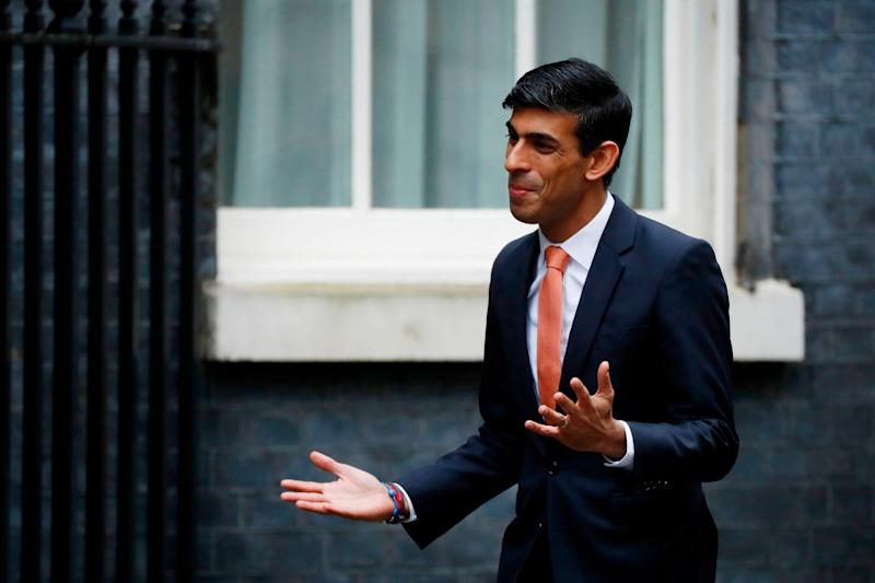 Britain's Chief Secretary to the Treasury Rishi Sunak arrives at 10 Downing Street (AFP via Getty Images)