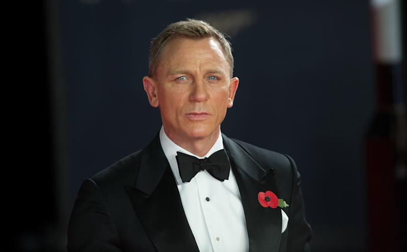 Daniel Craig arriving at the world premiere of James Bond film Spectre at the Royal Albert Hall in London.