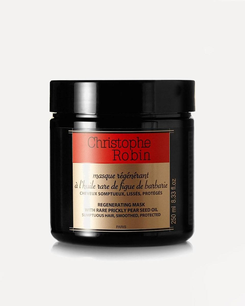 """""""It's always a good time to stock up on the Parisian colorist's cult-favorite products. As a member of the quarantine long-hair club, I am trying my best to treat those new inches with care. This mask comes fortified with prickly pear seed oil and plant-derived ceramides—perfect for after-beach nourishment."""" - <em>Laura Regensdorf, Beauty Director</em> $70, Net-a-Porter. <a href=""""https://www.net-a-porter.com/en-us/shop/product/christophe-robin/beauty/masques-and-treatments/regenerating-mask-250ml/17957409492541435"""" rel=""""nofollow noopener"""" target=""""_blank"""" data-ylk=""""slk:Get it now!"""" class=""""link rapid-noclick-resp"""">Get it now!</a>"""