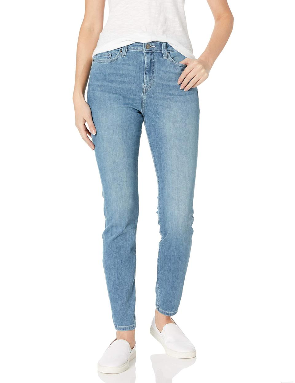 """<h2>Amazon Essentials High-Rise Skinny Jean</h2><br><strong><em>The Best Bargain </em></strong><br><br>If you're in need of new jeans but don't want to pay a hefty price, this casual, comfortable, and classic pair from Amazon Essentials won't cost you more than $35. <br><br><strong>The Hype: </strong>4.3 out of 5 stars; 2,257 reviews on Amazon.com <br><br><strong>What They're Saying</strong>: """"I NEVER write reviews, but I had to give a review of these jeans. They are amazing! I got them yesterday and couldn't wait to wear them today. They are the most comfy pair of jeans I own. I like the high rise because I have 'junk in the trunk' and when I am moving around they don't slide down. I am definitely ordering more pairs! The best part is the bargain price!"""" — Jennifer, Amazon.com reviewer<br><em><br>Shop <a href=""""https://www.amazon.com/Amazon-Essentials-Standard-High-Rise-Regular/dp/B07QSC98TN/ref=sr_1_18_sspa?th=1&psc=1"""" rel=""""nofollow noopener"""" target=""""_blank"""" data-ylk=""""slk:Amazon.com"""" class=""""link rapid-noclick-resp""""><strong>Amazon.com</strong></a></em><br><br><strong>Amazon Essentials</strong> High-Rise Skinny Jean, $, available at <a href=""""https://www.amazon.com/Amazon-Essentials-Standard-High-Rise-Regular/dp/B07QQ2YN83/ref=sr_1_18_sspa"""" rel=""""nofollow noopener"""" target=""""_blank"""" data-ylk=""""slk:Amazon"""" class=""""link rapid-noclick-resp"""">Amazon</a>"""