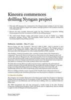 Kincora Copper commences drilling Nyngan project - May 17th, 2021 (CNW Group/Kincora Copper Limited)